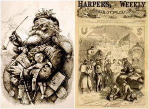 Thomas Nast este creditat ca cel care a creat imaginea lui Moș Crăciun